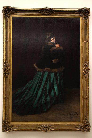"""""""Camille oder Dame im Grünen Kleid"""" von Claude Monet"""