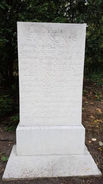 Grab Eva Lessing, Ehefrau von Gotthold Ephraim Lessing, Wolfenbüttel