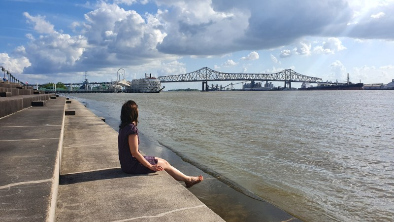Mussissippi-Hauptstadt-Louisiana-Dampfschiff