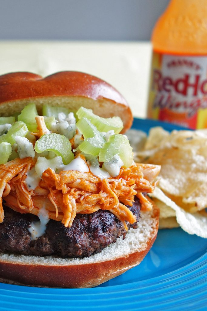 Buffalo Chicken Burger close up