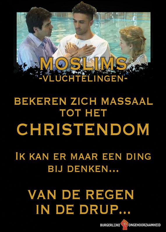 Moslims bekeren tot Christendom - van de regen in de drup - Burgerlijke Ongehoorzaamheid