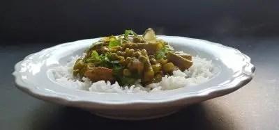 Recept curry madras, snel en lekker met rijst, kip en groentes