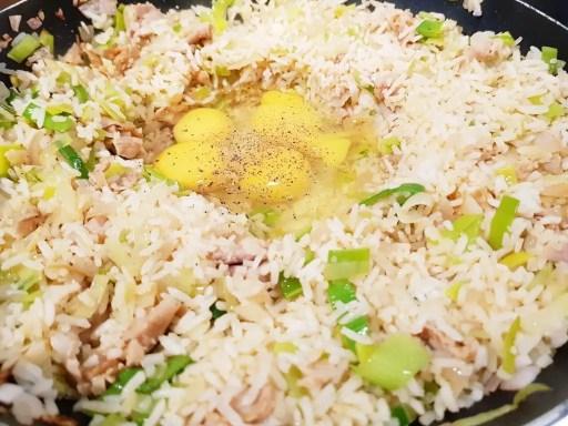 Recept gebakken rijst met prei, ei en fricandeau, chinese rijst BurgertrutjesNL