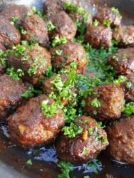 recept gehaktballetjes met hoisinsaus, hapje, snack, gehakt, borrelhap, burgertrutjes