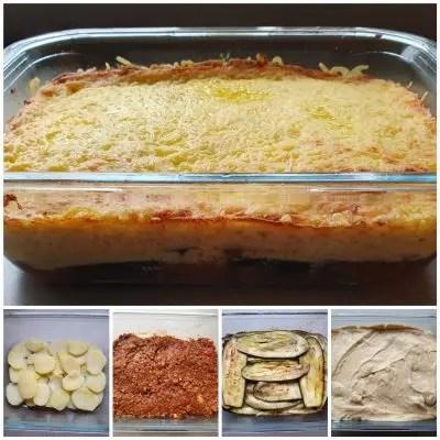 moussaka recept, een heerlijke griekse ovenschotel met aubergine en aardappel. Recept moussaka