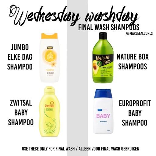 curly girl methode final wash shampoos