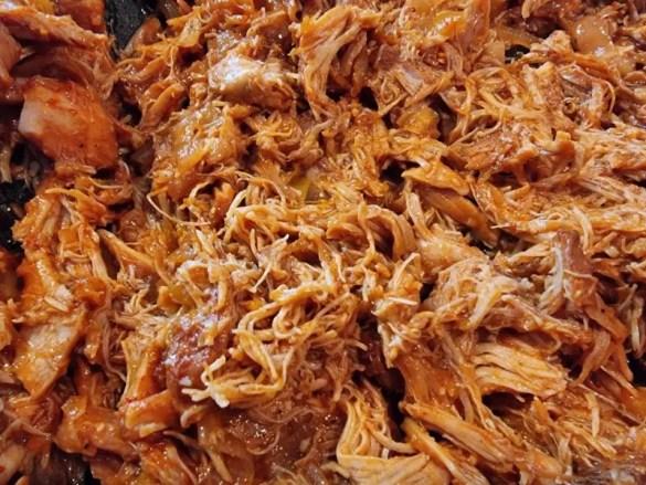 recept pulled chicken uit de slowcooker of braadpan