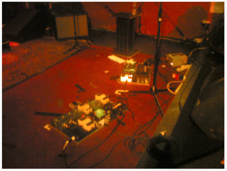Howie's many pedals...