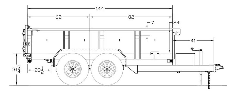 10LX Pro Series Tandem Axle Extra Wide Dump Trailer