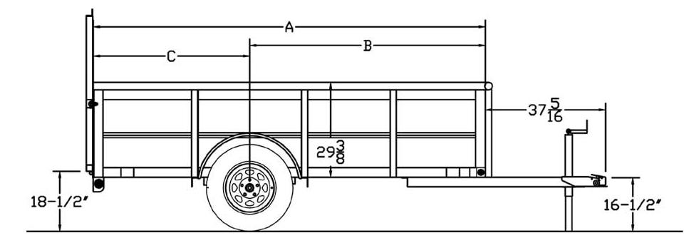 30SV/35SV Single Axle Vanguard Trailer, trailers, Burgoon