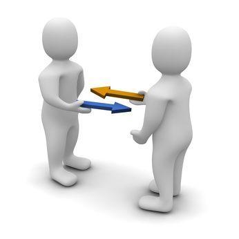 Exchange or trade conceptual illustration