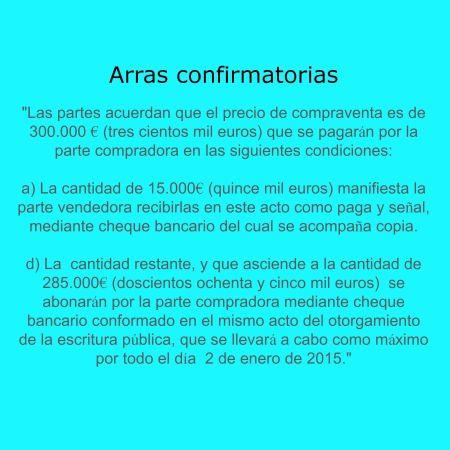 Arras confirmatory