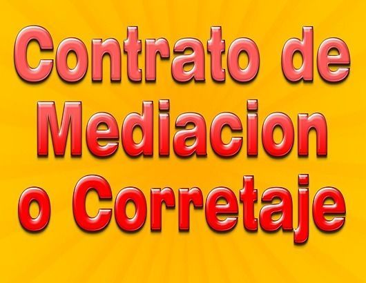 contrato de mediacion o corretaje