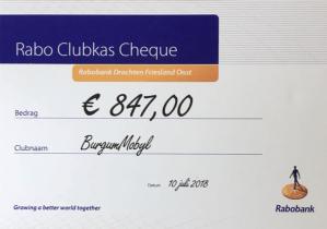 Lees meer over het artikel Blij met mooi bedrag Rabobank Clubkas Campagne
