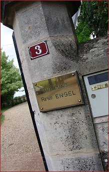 entrance to domaine rene engel