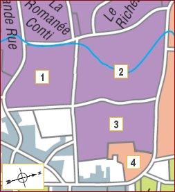 map of romanee saint-vivant