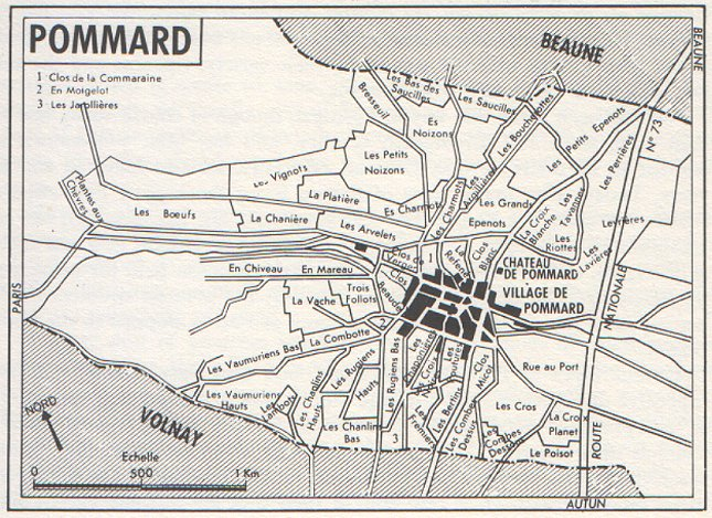 map of pommard