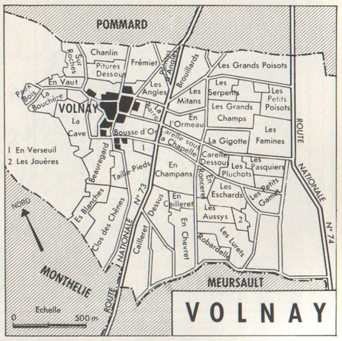 old map of volnay