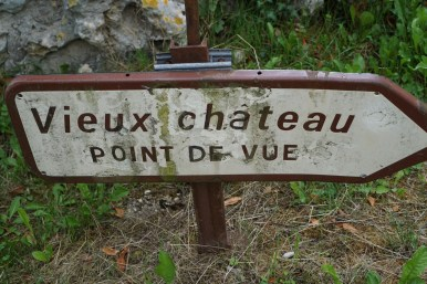 There's a view, but don't expect an old château - just rocks!