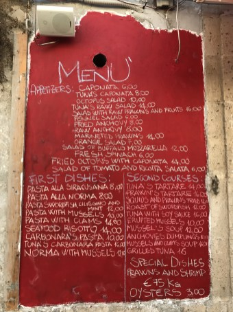 Siracusa (Syracuse) lunch?