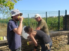 Gevrey La Justice Water Break - Herve Arlaud dispensing