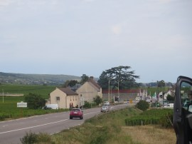 Morey traffic light junction looking north from SE of village