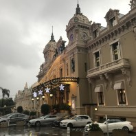 Monaco casino - no umbrellas, no hats, coats, bags - or dogs!
