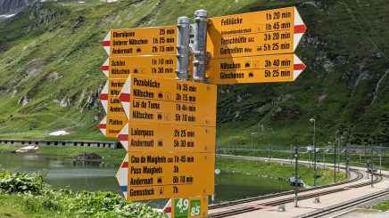 Oberalppass - the source of the Rhine is close by...