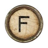 Type Writer Keys_F
