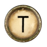 Type Writer Keys_T