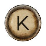 Type Writer Keys_K