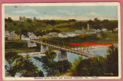 Maitland River Bridge and Saltford, Goderich