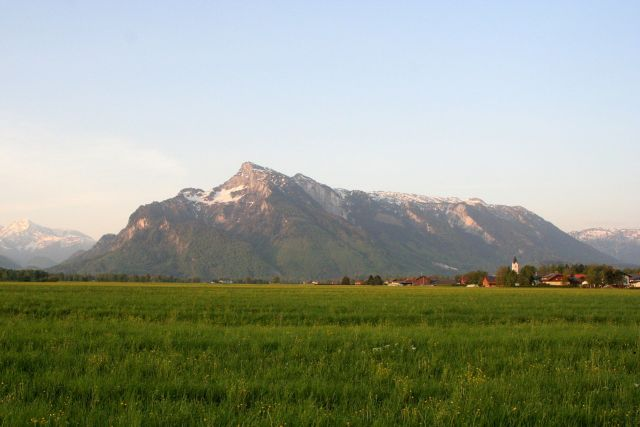 Mountains viewed from Salzburg - Click for credit