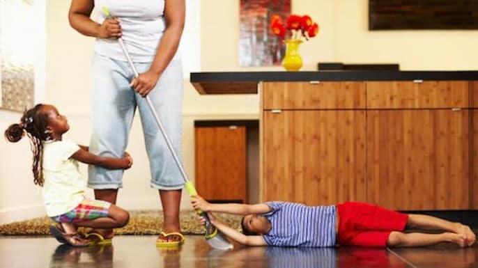 Ménager la maison avec des enfants en bas âges
