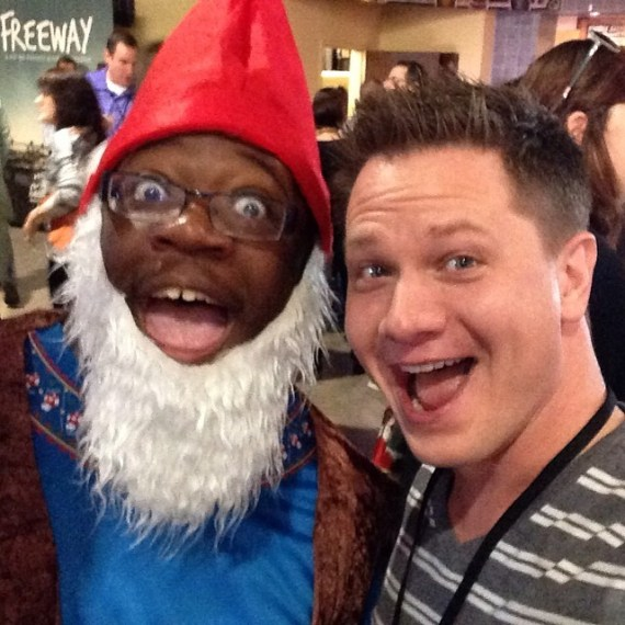 When you have an opportunity to take a Gnome selfie, you occasionally use that selfie in blog posts.
