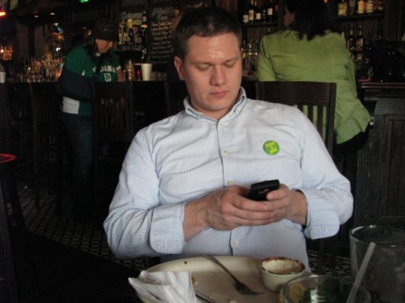 Daniel Burke, sitting in a restaurant, looking up your church on his phone.