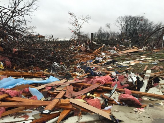 Tornado Damage in Rowlett, TX