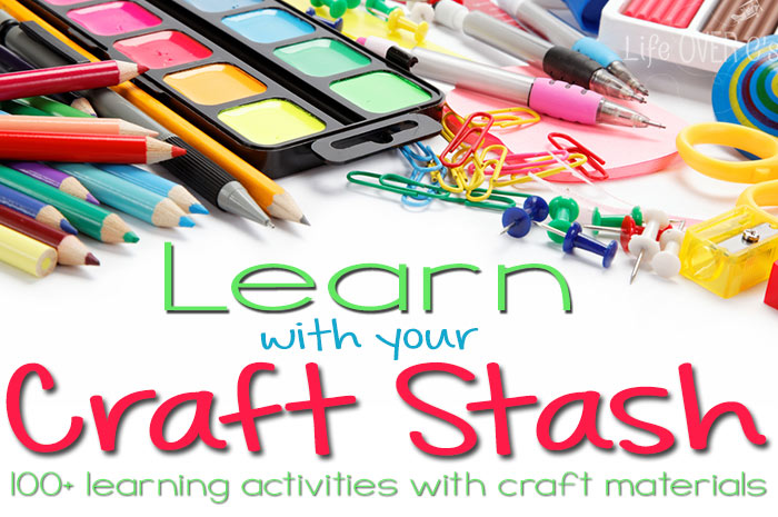 Learning with craft supplies.