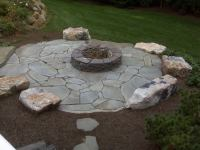 Blue Stone Patio With Fire Pit