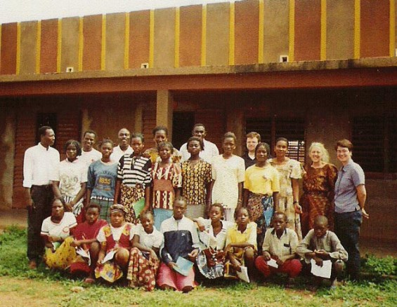 A school in Burkina Faso with Peace Corps Volunteers, 2002