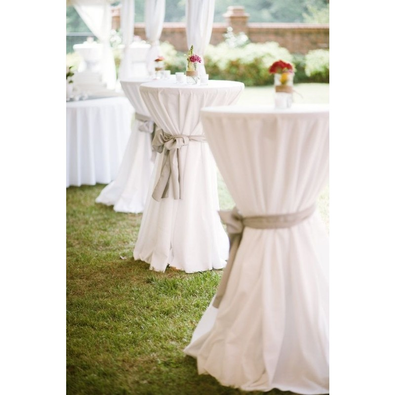 114 Inch Round Polyester Tablecloth