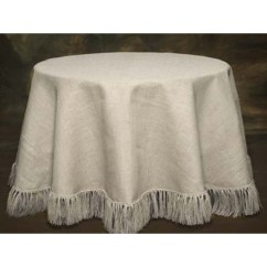 Fabric Chair Covers To Buy Colorful Chaise Lounge Chairs White Fringed 90 Round Burlap Tablecloth   Boutique