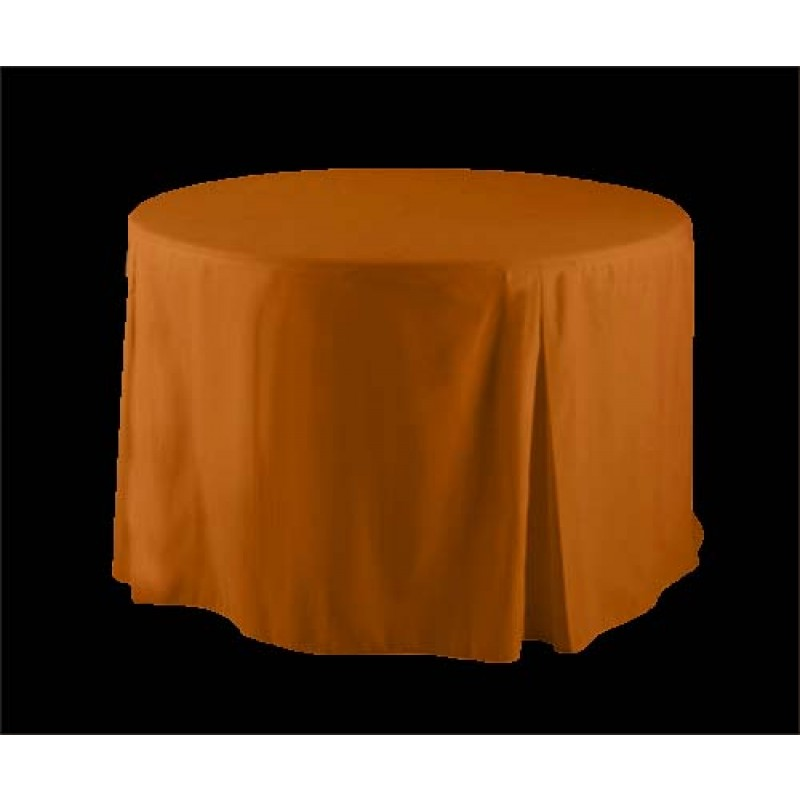 36 Inch Round Polyester Fitted Tablecloth