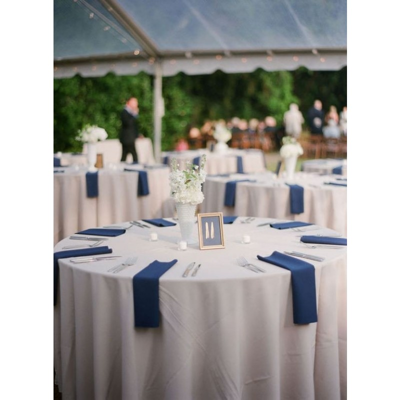 114 inch Round Spun Polyester Tablecloth