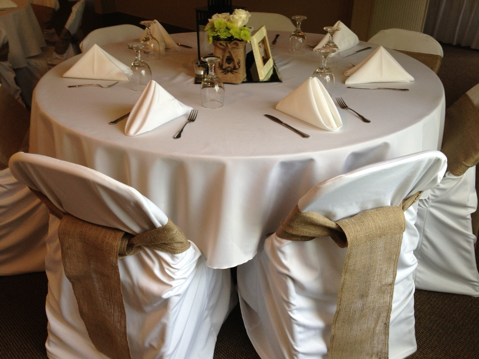 rental chair covers and sashes folding dolly 50 capacity for 14 x 120 burlap boutique