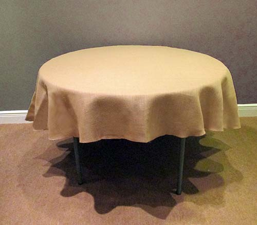 chair covers most comfortable living room save on 102 round burlap tablecloth | boutique