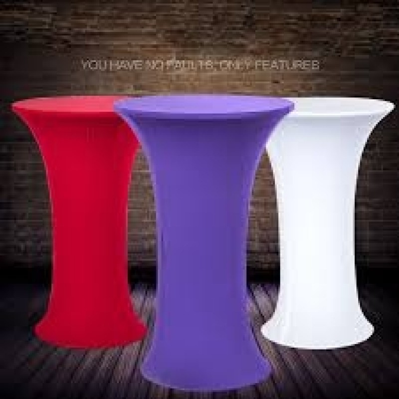 36 x 42 inch Highboy Round Base Spandex Fitted Table Cloths