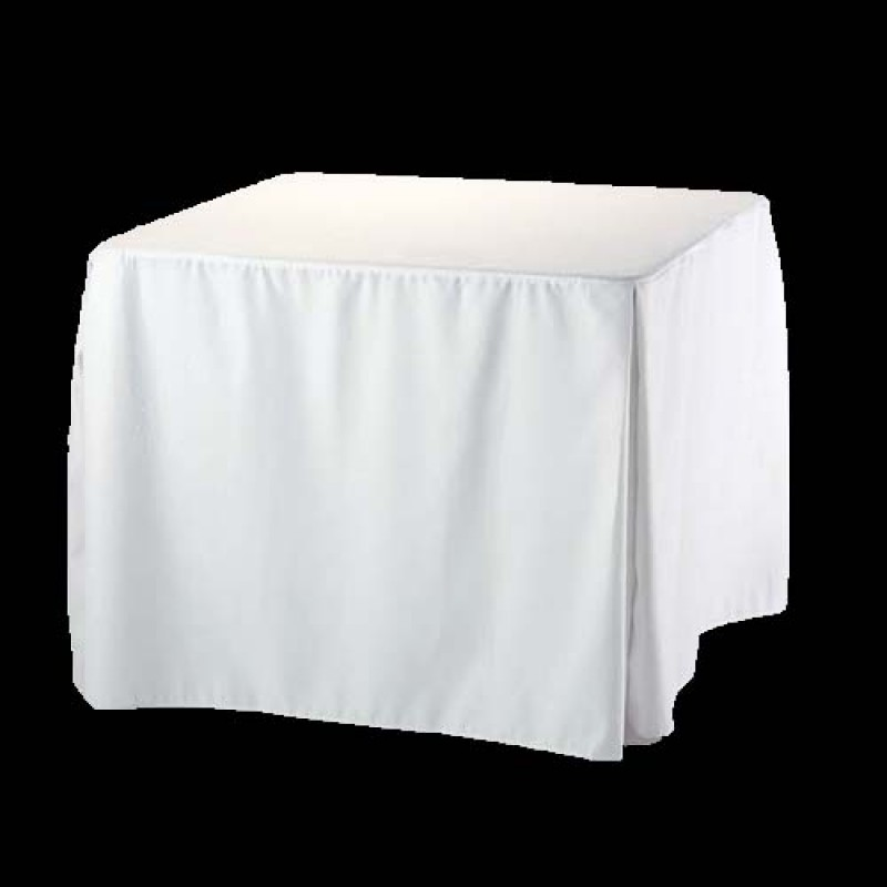 72x72 Inch Square Fitted Polyester Tablecloth  Premier