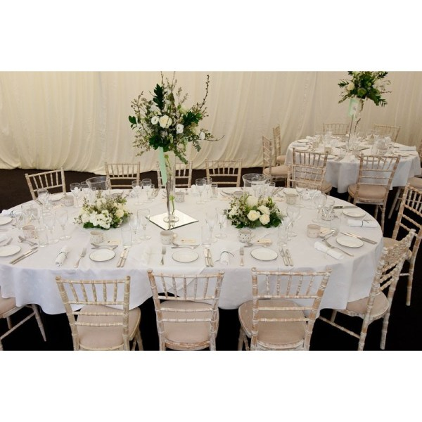 108 X 156 Oval Polyester Cotton Blend Tablecloth