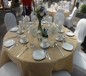 Burlap  Polyester Tablecloths and Linens